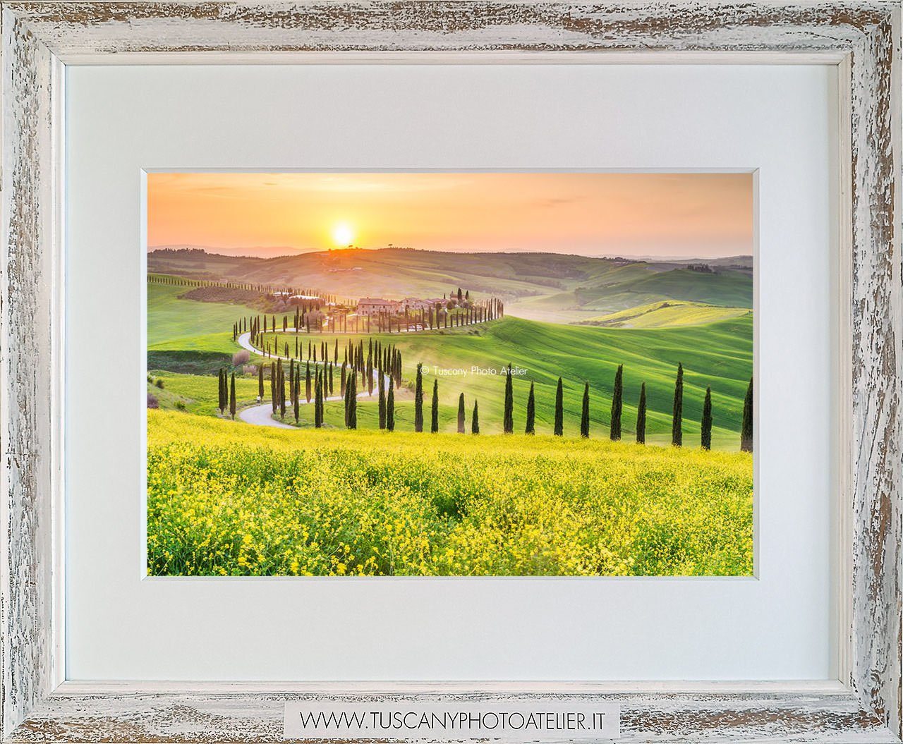 Stampa Fine Art paesaggio della Toscana - Baccoleno, Asciano
