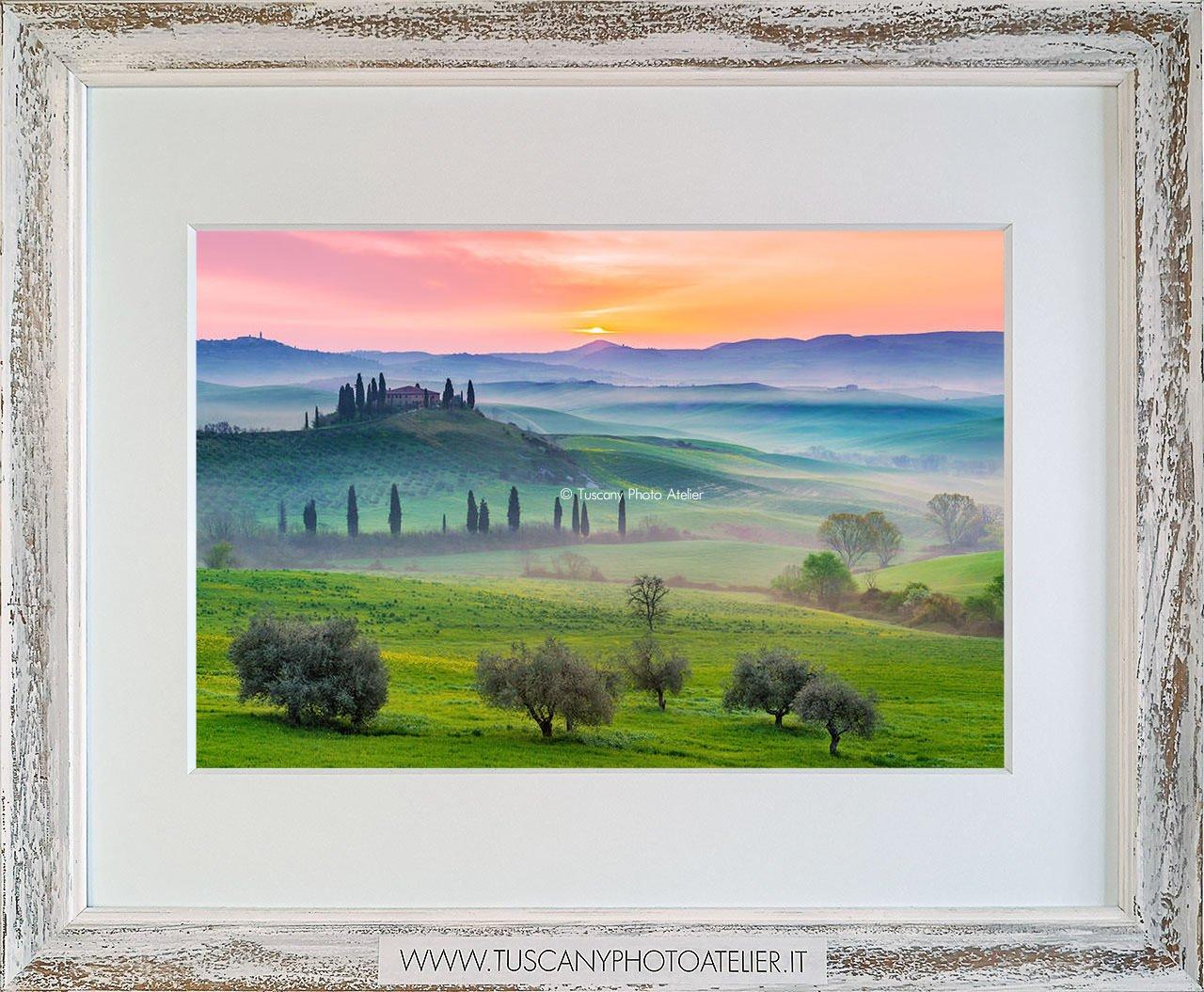 Stampa Fine Art paesaggio della Toscana - Belvedere